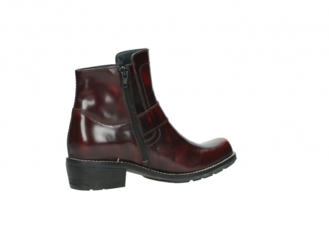 wolky ankle boots 0525 gila 351 burgundy polished leather_16