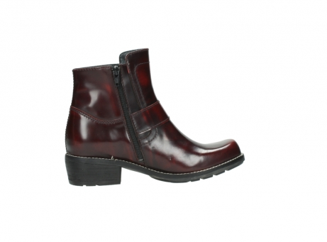wolky ankle boots 0525 gila 351 burgundy polished leather_17