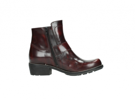 wolky ankle boots 0525 gila 351 burgundy polished leather_18
