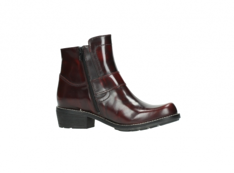 wolky ankle boots 0525 gila 351 burgundy polished leather_19