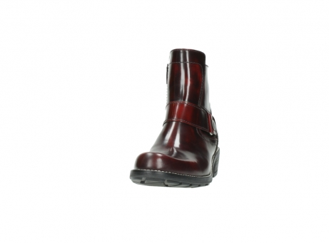 wolky ankle boots 0525 gila 351 burgundy polished leather_2