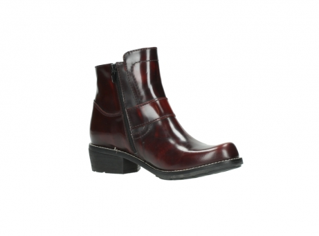 wolky ankle boots 0525 gila 351 burgundy polished leather_20