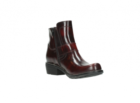 wolky ankle boots 0525 gila 351 burgundy polished leather_21