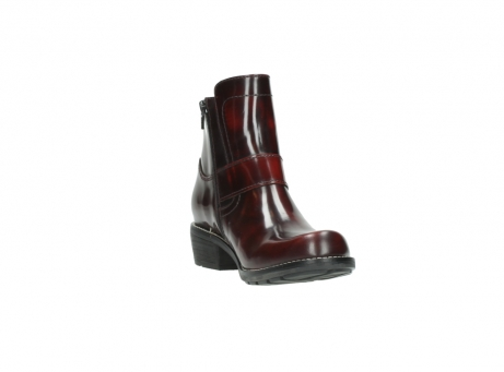 wolky ankle boots 0525 gila 351 burgundy polished leather_22