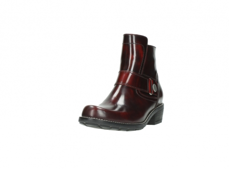 wolky ankle boots 0525 gila 351 burgundy polished leather_3