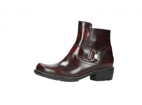 wolky ankle boots 0525 gila 351 burgundy polished leather_5