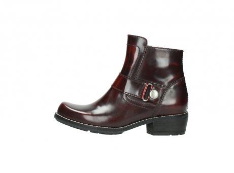 wolky ankle boots 0525 gila 351 burgundy polished leather_6