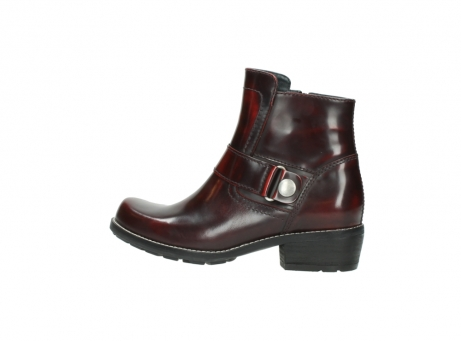 wolky ankle boots 0525 gila 351 burgundy polished leather_7