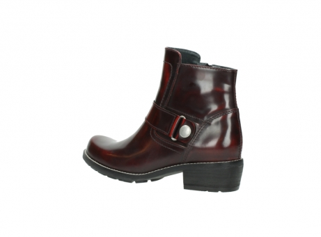 wolky ankle boots 0525 gila 351 burgundy polished leather_8