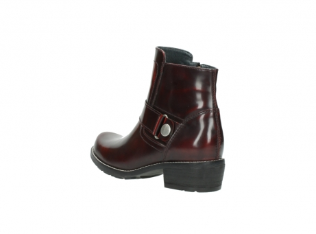 wolky ankle boots 0525 gila 351 burgundy polished leather_9