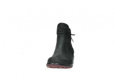 wolky enkellaarsjes 0529 yarra 100 zwart geolied nubuck_20