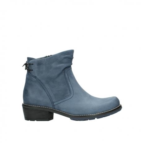 wolky enkellaarsjes 0529 yarra 180 donkerblauw geolied nubuck