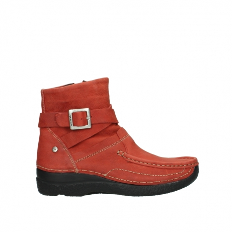 wolky ankle boots 06293 roll point 11542 winter red nubuck