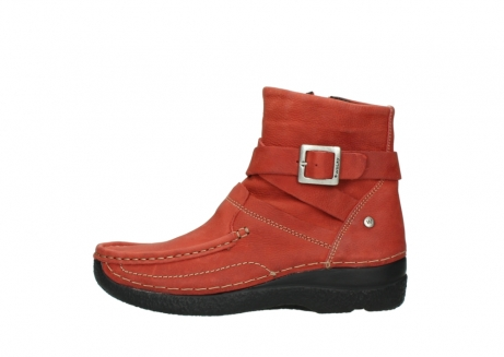 wolky ankle boots 06293 roll point 11542 winter red nubuck_1