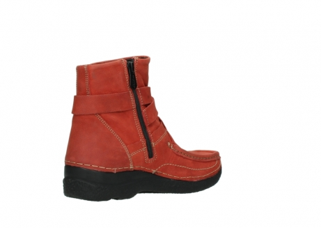 wolky ankle boots 06293 roll point 11542 winter red nubuck_10