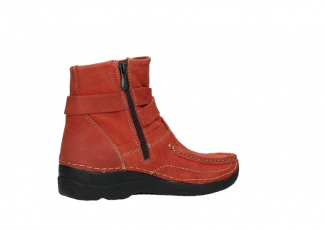 wolky ankle boots 06293 roll point 11542 winter red nubuck_11