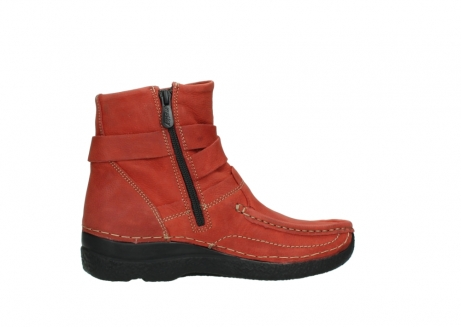 wolky ankle boots 06293 roll point 11542 winter red nubuck_12