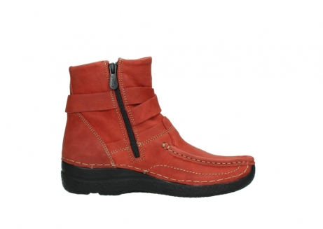 wolky ankle boots 06293 roll point 11542 winter red nubuck_13
