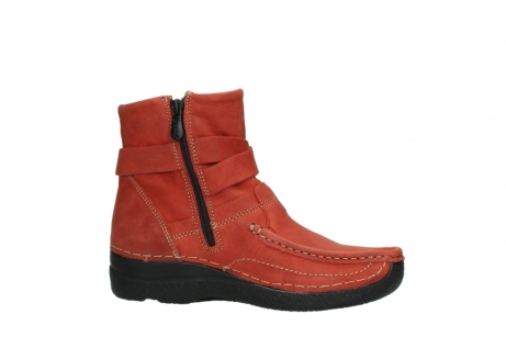 wolky ankle boots 06293 roll point 11542 winter red nubuck_14