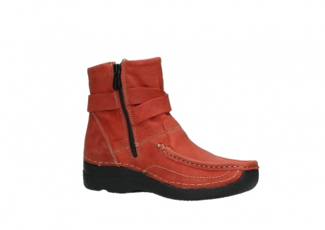 wolky ankle boots 06293 roll point 11542 winter red nubuck_15
