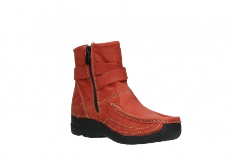 wolky ankle boots 06293 roll point 11542 winter red nubuck_16