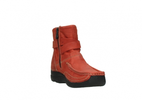 wolky ankle boots 06293 roll point 11542 winter red nubuck_17