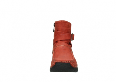 wolky ankle boots 06293 roll point 11542 winter red nubuck_19