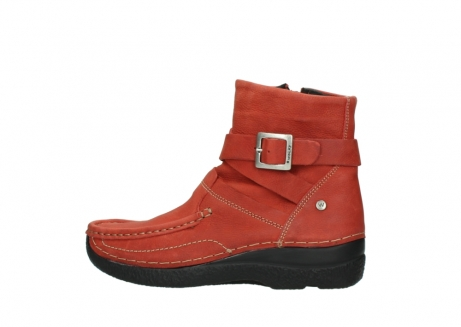 wolky ankle boots 06293 roll point 11542 winter red nubuck_2