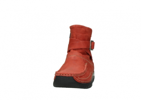 wolky ankle boots 06293 roll point 11542 winter red nubuck_20