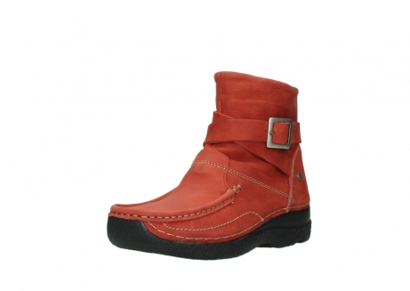 wolky ankle boots 06293 roll point 11542 winter red nubuck_22
