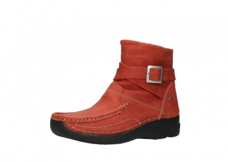 wolky ankle boots 06293 roll point 11542 winter red nubuck_23
