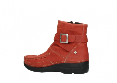 wolky ankle boots 06293 roll point 11542 winter red nubuck_3