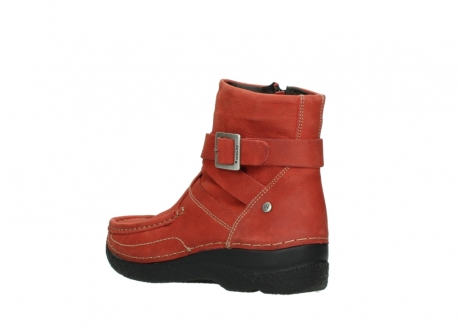 wolky ankle boots 06293 roll point 11542 winter red nubuck_4