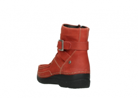wolky ankle boots 06293 roll point 11542 winter red nubuck_5