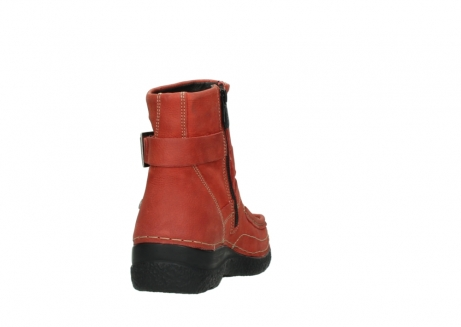 wolky ankle boots 06293 roll point 11542 winter red nubuck_8