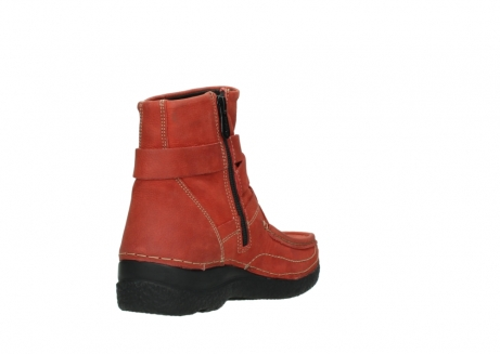 wolky ankle boots 06293 roll point 11542 winter red nubuck_9