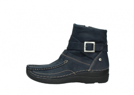 wolky ankle boots 06293 roll point 11802 blue oiled nubuck_1