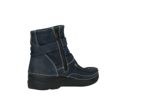 wolky ankle boots 06293 roll point 11802 blue oiled nubuck_10