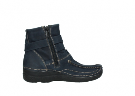 wolky ankle boots 06293 roll point 11802 blue oiled nubuck_12