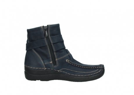 wolky ankle boots 06293 roll point 11802 blue oiled nubuck_13