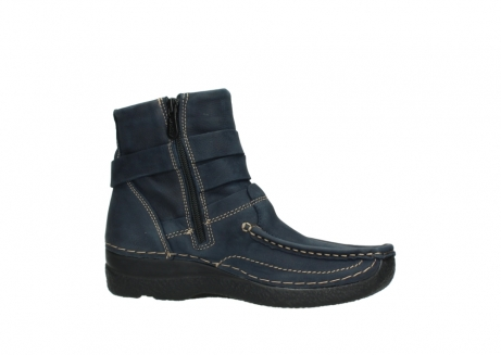 wolky ankle boots 06293 roll point 11802 blue oiled nubuck_14