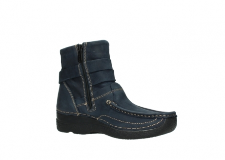 wolky ankle boots 06293 roll point 11802 blue oiled nubuck_15