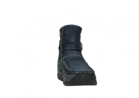 wolky ankle boots 06293 roll point 11802 blue oiled nubuck_18