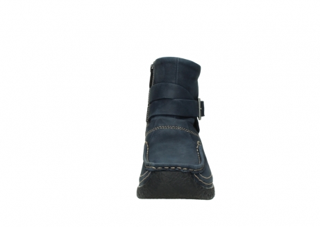 wolky ankle boots 06293 roll point 11802 blue oiled nubuck_19