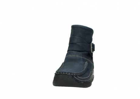 wolky ankle boots 06293 roll point 11802 blue oiled nubuck_20