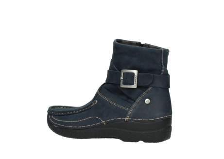 wolky ankle boots 06293 roll point 11802 blue oiled nubuck_3
