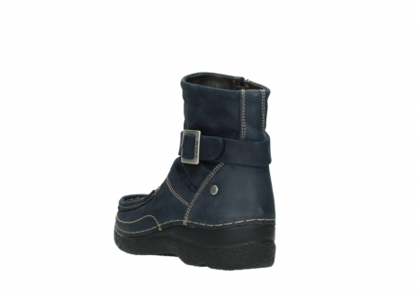 wolky ankle boots 06293 roll point 11802 blue oiled nubuck_5