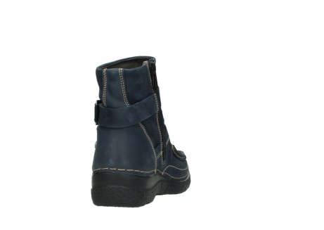 wolky ankle boots 06293 roll point 11802 blue oiled nubuck_8