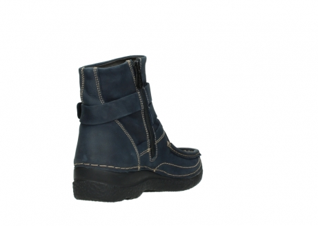 wolky ankle boots 06293 roll point 11802 blue oiled nubuck_9