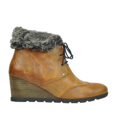 wolky ankle boots 06310 havana 80920 ocher leather